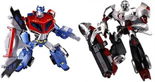 Japanese Transformers Animated - Optimus Prime <b>vs</b>. <b>Megatron</b>