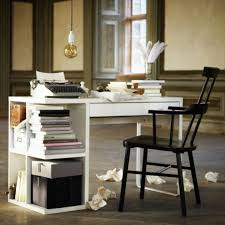 chic ikea micke desk with drawers and black chair and cool hanging lamp for home office chic ikea home office
