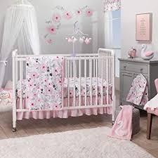 Bedtime Originals Blossom <b>Pink Watercolor</b> Floral <b>3</b>-<b>Piece</b> Baby Crib