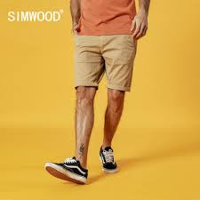 SIMWOOD 2019 Summer New Solid <b>Shorts Men</b> Cotton Slim Fit ...