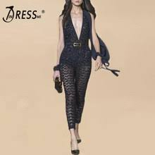 Shop Womens Sequin and Spandex Bodycon Jumpsuit - Great ...