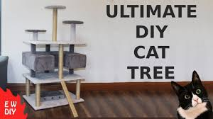 Ultimate DIY <b>cat tree</b>. - YouTube