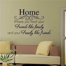 wall decal family art bedroom decor home friend family home diy wall sticker vinyl decal art decor mural