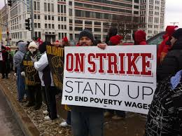 low wage workers strike in over 100 cities missouri jobs today mo jwj faith community and labor leaders again joined striking low wage workers in st louis and kansas city over 100 cities across the country as