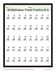 Timed Multiplication Worksheets 0 – 3 | Printable Practice SheetsMath Worksheets