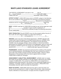 maryland rental lease agreements residential commercial maryland rental lease agreements residential commercial pdf word fillable forms