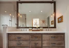 ideas rustic bathroom mirror sink