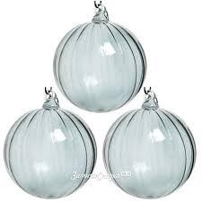 <b>Набор</b> стеклянных <b>шаров</b> Гарда 8 см дымчатый, 3 шт, <b>Kaemingk</b>