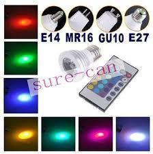 <b>100PCs 3W</b> E27 GU10 E14 GU5.3 MR16 LED RGB Spotlight ...