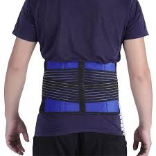 Durable <b>Neoprene</b> Belt <b>Adjustable Double Pull</b> Lumbar Lower Waist ...