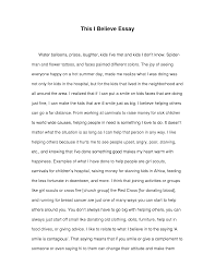 this i believe essay examples   academic essay this i believe essay