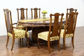 walnut cherry dining: romweber louis xv de gaulle  pc vintage dining set table  leaves amp