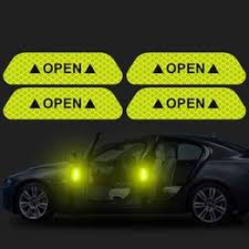 4Pcs/Set Car OPEN Reflective Tape Warning Mark Reflective ... - Vova