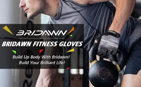 Bridawn Weight Lifting Workout Gloves Men Women Gym Gloves ...