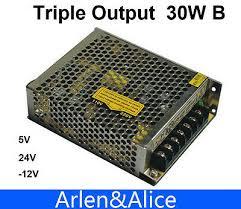<b>30W Triple output</b> 5V 24V -12V <b>Switching</b> power supply smps AC to ...