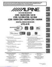 <b>Alpine CDE</b>-<b>190R</b> Manuals   ManualsLib