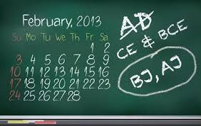 A.D. vs. C.E.