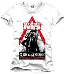 Мужская <b>футболка</b> Batman T-Shirt Arkham <b>City Obey</b> Order wei Gr ...