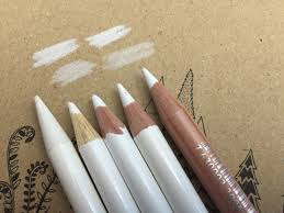 white colored pencils some ways to use it