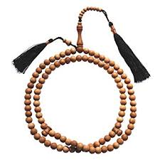 Exotic Beads <b>Sandal</b> Wood Prayer Beads (<b>8 mm</b>, Brown): Amazon.in ...