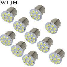 white 1156 g18 ba15s 4 cob led turn signal rear light car bulb lamp 12v
