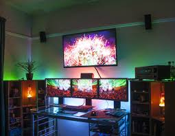 1000 images about home computer setup on pinterest monitor gaming and gaming setup basement office setup 3 primary