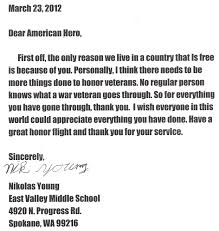 thank you letter to a veteran example thank you letter  thank