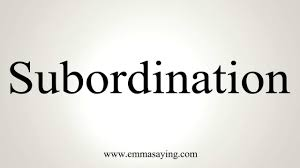「subordination」の画像検索結果