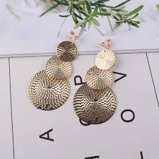 <b>JIOFREE</b> Long gold Silver Clip on Earrings For Women <b>Vintage</b> ...