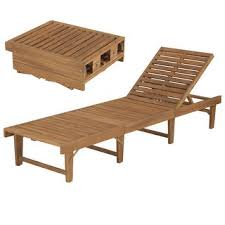 "Shop vidaXL Folding <b>Sun Lounger Solid Acacia</b> Wood - 78.7"" x 24"" x ..."