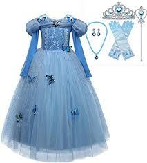 CX.Azul 6pcs Girls Elsa Frozen Snow Princess Blue ... - Amazon.com