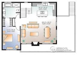 House plan W detail from DrummondHousePlans com    nd level Contemporary to bed  family rooms ski chalet   large balcony