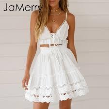 JaMerry 2019 <b>Spring summer lace</b> embroidery white skirt <b>women</b> ...