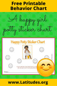 potty training sticker chart happy girl acn latitudes happy girl potty sticker chart