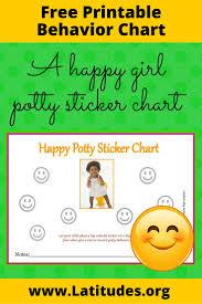 potty training sticker chart happy girl acn latitudes happy girl potty sticker chart