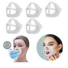 <b>5pcs 3D</b> Stand Inner Support <b>Face Mask</b> Bracket Breathing Space ...