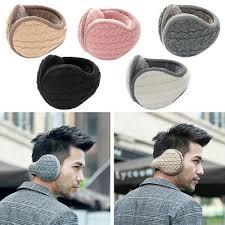 <b>Men Women</b> Ear Muffs Winter Ear Warmers Knitted <b>Adjustable</b> Wrap ...
