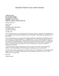 sample teacher cover letter com substitute teacher cover letter example teacher cover letter
