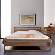 ethnicraft light frame teak bed solid wood furniture bedroom set light wood light