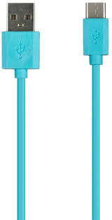Купить <b>Red Line</b> USB - Type-C 1м синий <b>кабель</b> (провод) в Москве ...