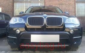 <b>Защита радиатора Премиум</b> BMW X6 (E71) <b>Черная</b>