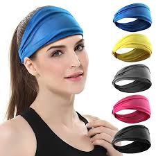 DASUTA <b>Set</b> of 5 <b>Women's</b> Yoga <b>Sport</b> Wide Headband for <b>Elastic</b> ...