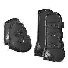 <b>4 PCS Front</b> Hind Leg Boots Adjustable Horse Leg Boots Equine ...