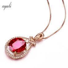 Женское ожерелье с подвеской с натуральным имитацией ...