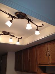 lighting ideas top glass lights kitchen convert that ugly recessed fluorescent ceiling lighting in your kitche