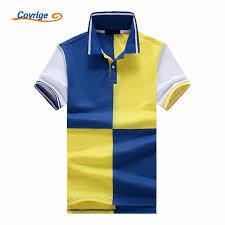 <b>Covrlge Brand 2019 New</b> Men Patchwork PoloShirt Short Sleeve ...