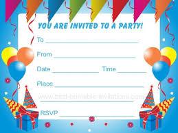 printable birthday party invitations gangcraft net printable kids party invitations unique birthday invitations