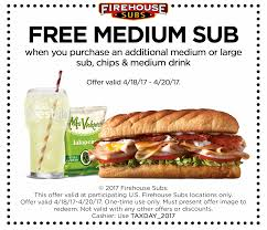 get relief on tax day bies and deals the coupon also will be sent to newsletter subscribers sign up for the newsletter at firehousesubs com newsletter
