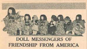 「1927, dolls, blue-eyed,  presented to japan representing all the states of us」の画像検索結果