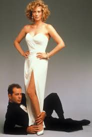moonlighting film genres the red list promotional photo of bruce willis and cybil shepard for moonlighting